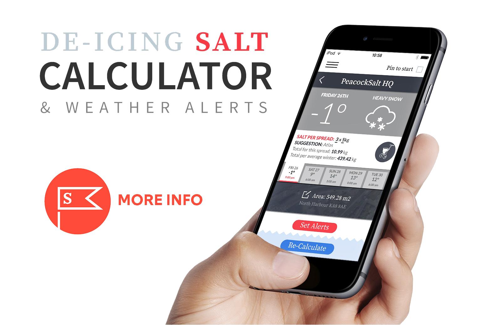 Peacock Salt Gritting Calculator App Peacock Salt